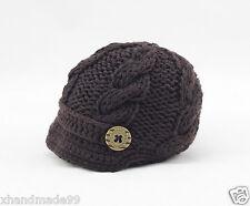 Handmade Knitting crochet Beanie Hat cap Newsboy Toddler boy baby 3-6 month