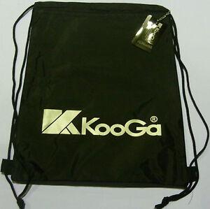 KOOGA RUGBY MATCH TEAM GYM BAG FOR KIT/FOOTWEAR/PE-BLACK/WHITE-35CMSx43CMS