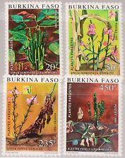 BURKINA FASO 1989 1210-13 875-78 Parasitic Plants Flora Parasitpflanzen MNH