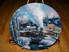 """""""Moonlit Journey"""" TRAINS OF THE GREAT WEST by Kirk Randle Bradford TRAIN Plate"""