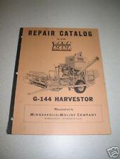 Minneapolis Moline G-144 (G144) Harvestor Repair Manual