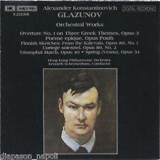 Glazunov: Orchestral Works, Poème Épique, Etc / Schermerhorn, Hong Kong Po - CD