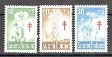 TEMA FLORES. FINLANDIA 1959 486/88 3v. FLORES