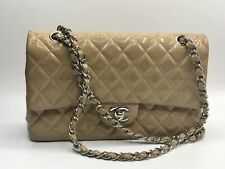 Auth Chanel Quilted CC Classic Flap New Mini SHW Shoulder Bag Lambskin 7952
