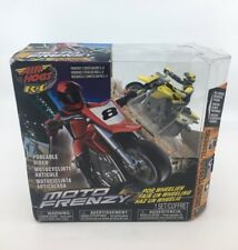 NEW Yellow Air Hogs RC Moto Frenzy Stunt Motorcycle w/ Rider - Radio Controlled