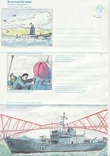GB Stamps Aerogram / Air Letter APS52 - 24p Royal Navy, sub, Scottish Issue 1982