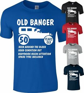 50th Fifty 1968 Age 50 Years Old Banger Birthday present Gift T-Shirt Funny Top