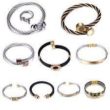 Stainless Steel Bangle Adjustable Costume Bracelets