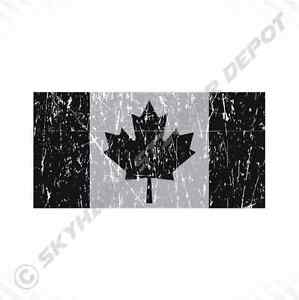 "4"" Canadian Flag Vinyl Decal Bumper Sticker Subdued Weathered Flag Maple Leaf"