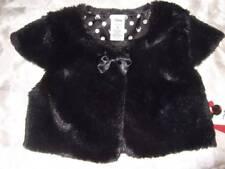 NWT ~ DISNEY Jumping Beans black faux fur shrug dressy holiday ~ girls 5 5T