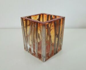 Handmade OOAK resin succulent pot vase inlaid with rose stems & red glitter