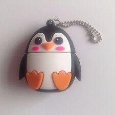 1 Cute Novelty Round Penguin, 16GB USB Flash Drive Memory Stick