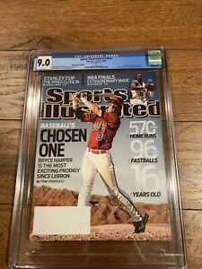2009 Sports Illustrated Bryce Harper First Issue CGC Grade 9.0