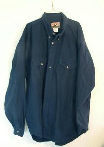 5XLT Moose Creek dark blue flannel shirt