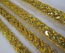 2 METER Gold Spitze 1cm breit Borte BB 208 elegante Borte 0,70€/m