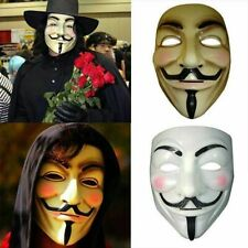 V For Vendetta Mask Halloween Mask guy fawkes anonymous face party cosplay fancy