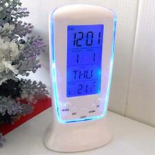Digital LCD Alarm clock calendar thermometer Backlight Multi-function Display K
