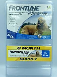 Frontline Plus Flea & Tick Medium Breed Dog Treatment, 23-44 lbs 8 Doses New