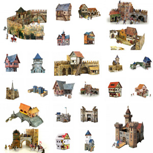 """Сardboard models toys Clever Paper Umbum """"Medieval Town. Houses & Towers"""" #1-2"""
