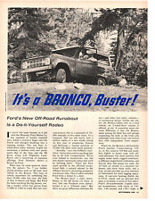 1965 FORD BRONCO ~ ORIGINAL 4-PAGE ARTICLE / AD
