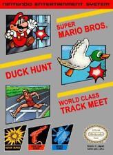 3-in-1 Super Mario Bros./Duck Hunt/World Class Track Meet NES NM Cartridge