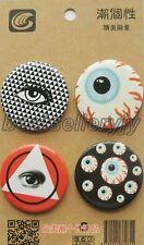 wholesale New 20Pcs Cartoon Eyes Badge Button Pins Children Gifts H027