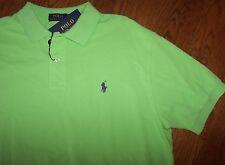 "NWT Polo Ralph Lauren ""FLORIDA GREEN"" Mesh Knit Shirt Men's L Purple Pony SHARP!"