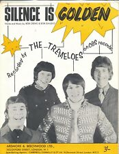 Le silence est d'or-THE TREMELOES - 1963 Sheet Music