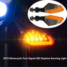 2PCS DC12V 2.5W Motorcycle Turn Signal LED Light Universal Daytime Running Light