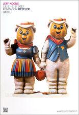 Jeff KOONS Winter Bears Sculpture Swiss Poster 50-1/4 x 35-1/4