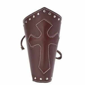 1pr Punk Bandage Bracers Arm Armor Cuff Gothic Knights Templar Cosplay Wristband