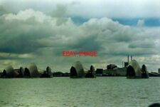 PHOTO  1994 THAMES FLOOD BARRIER APPROACHING FROM THE UPSTREAM (GREENWICH) SIDEA