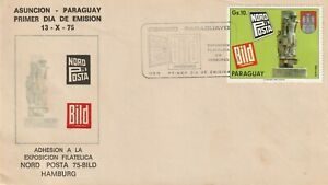 1975 Paraguay FDC cover Stamp Exhibition NORDPOSTA