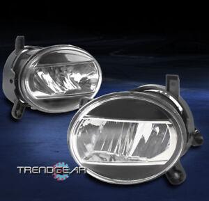 2009-2012 AUDI A4 B8 BUMPER DRIVING LED FOG LIGHTS LAMP BLACK/CHROME HOUSING SET