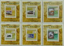 Trains on stamps SET 6 SHEETS DELUXE 2009 Mi 7009/14 MNH #GU0970d