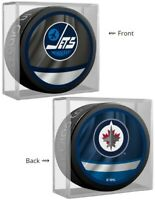 Winnipeg Jets NHL Reverse Retro Dual Logo Souvenir Hockey Puck (in Display Cube)