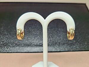 14k Huggie Earrings 14K SOLID GOLD!  Diamond cut