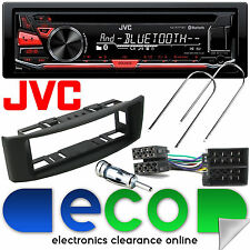 Renault Megane 95-02 JVC Bluetooth CD MP3 USB Car Stereo & BLACK Facia Panel Kit