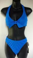 SPEEDO Cubed Halter Two Piece Womens Bikini Swimsuit French Blue SIZE 6 NEW