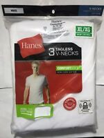 Hanes Mens 3 Pack White V Neck T Shirt Undershirt Comfort Soft Tagless S M L XL