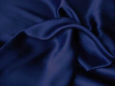 Silk~Y Satin Charmeuse Fitted Sheet Set King Navy/Blue