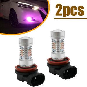 2x Pink Purple H11 H8 2835 LED Fog Lamp Driving Lights DRL Bulbs Car Accessories