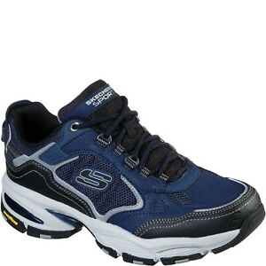 Mens Skechers VIGOR 3.0 (WIDE) 237145W NVBK Navy Lace-Up Athletic Sneaker Shoes