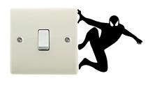 Spiderman Dark Light Side Switch Vinyl Decal Sticker Child Room Lightswitch Wall