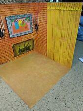Vintage 1963 Barbie Go Together Living Room Cardboard Fold Out Backdrop + Floor