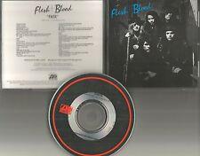 FLESH and BLOOD & Fate w/ RARE EDIT PROMO DJ CD single 1989 w/ PRINTED LYRICS