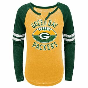 Outerstuff NFL Youth Girls (7-16) Green Bay Packers Long Sleeve T-Shirt