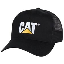 Black Caterpillar CAT Equipment Trucker Twill Diesel Cap Hat Cap Equipment
