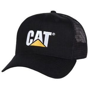 Black Caterpillar CAT Equipment Trucker Twill Diesel Cap Hat Cap Equipment
