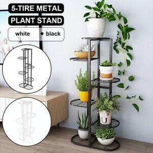 6 Tier Indoor Outdoor Plant Stand Flower Pot Display Metal Shelf Rack Home Décor